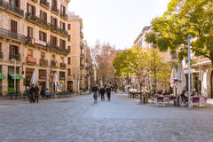 The Passeig del Born, Barcelona Royalty Free Stock Photo