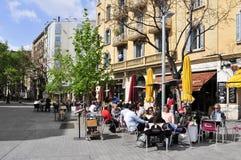 Passeig del Nascido em Barcelona, Espanha fotos de stock