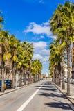 Passeig Isabel And Font Geni Catala-Barcelona, Spanje stock foto's