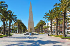 Passeig Jaume I, in Salou, Spain Stock Photos