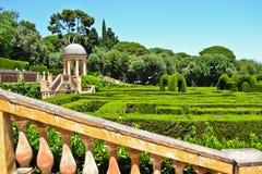 passeig spain för barcelona castanyerscatalonia de horta labyrint Arkivbild