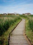 Passeio à beira mar através da reserva natural Foto de Stock