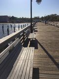 Passeio à beira mar da baía de Chesapeake de Maryland fotos de stock royalty free