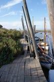 Passeio à beira mar de Blakeney Imagem de Stock