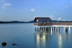 Passeio à beira mar de Changi, caminhada de Kelong Imagem de Stock