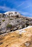 Passeio à beira mar de Mammoth Hot Springs Imagem de Stock Royalty Free