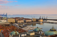 Passeio à beira mar de Rijeka fotografia de stock