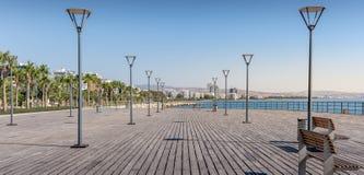 Passeio à beira mar dos molos de Limassol Imagem de Stock Royalty Free