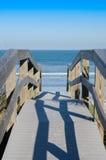 Passeio à beira mar a encalhar Foto de Stock