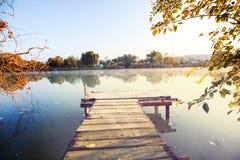 Passeio à beira mar no lago Imagem de Stock Royalty Free