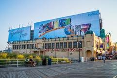 Passeio à beira mar quieto Atlantic City Imagens de Stock Royalty Free