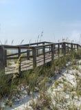Passeio à beira mar rústico da praia do vintage em Florida Imagens de Stock Royalty Free