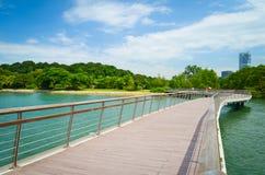 Passeio à beira mar Singapura Imagens de Stock Royalty Free