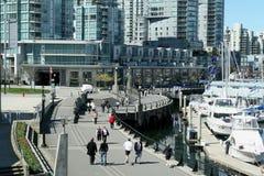Passeio à beira mar urbano fotografia de stock royalty free