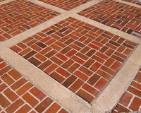Passeio abstrato do tijolo Fotos de Stock Royalty Free