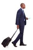 Passeio africano do homem de negócios Fotos de Stock Royalty Free