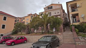 Passeio através das ruas Minturno Itália da cidade vídeos de arquivo
