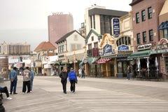 Passeio à beira mar de Atlantic City Imagem de Stock Royalty Free