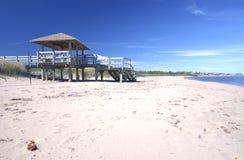 Passeio à beira mar em um Eco-centro, Novo Brunswick, Canadá Foto de Stock Royalty Free