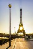 Passeio calmo e nascer do sol sobre Paris Foto de Stock Royalty Free