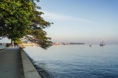 Passeio central do beira-mar da cidade de dili em Timor-Leste Imagem de Stock Royalty Free