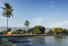 Passeio central do beira-mar da cidade de dili em Timor-Leste Foto de Stock
