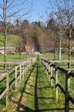 Passeio cerc através de um prado inglês Imagem de Stock