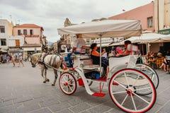 Passeio Chania do transporte do cavalo Fotografia de Stock Royalty Free
