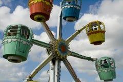 Passeio colorido da roda de ferris Imagens de Stock Royalty Free
