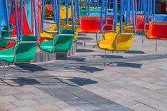 Passeio colorido do balanço Fotografia de Stock