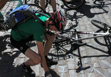 Passeio da bicicleta de Kiev Fotos de Stock