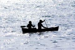 Passeio da canoa da noite Foto de Stock Royalty Free