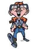 Passeio da criança dos desenhos animados do totó Imagem de Stock Royalty Free