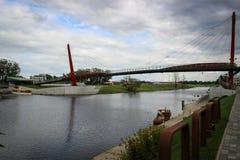 Passeio da ilha da massa na cidade de Jelgava, Letónia Foto de Stock Royalty Free
