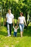 Passeio da matriz, do pai e do bebê imagem de stock royalty free