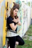 Passeio da menina do punk ao ar livre Foto de Stock Royalty Free
