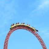 Passeio da montanha russa na cabeça superior Fotografia de Stock
