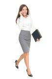 Passeio da mulher de negócios isolado Imagem de Stock Royalty Free