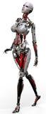 passeio da mulher do robô Fotografia de Stock
