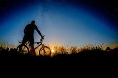 Passeio da noite da bicicleta Fotografia de Stock Royalty Free