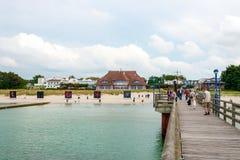 Passeio da praia de Zingst Fotografia de Stock Royalty Free