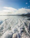 Passeio de alta velocidade do barco Fotografia de Stock