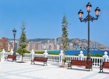 Passeio de Benidorm, Costa Blanca, Espanha imagens de stock royalty free