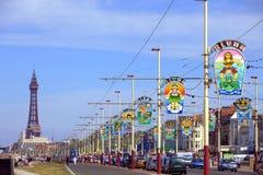 Passeio de Blackpool com torre Fotos de Stock