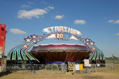 Passeio de emoção no parque de diversões Imagem de Stock Royalty Free
