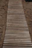 Passeio de madeira na praia Foto de Stock