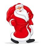 Passeio de Papai Noel ilustração royalty free