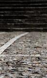 Passeio de pedra com as escadas, borradas Foto de Stock Royalty Free