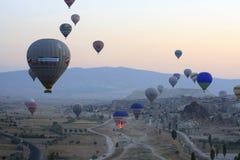 Passeio do balão de ar quente, Cappadocia Imagem de Stock
