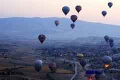 Passeio do balão de ar quente, Cappadocia Foto de Stock Royalty Free